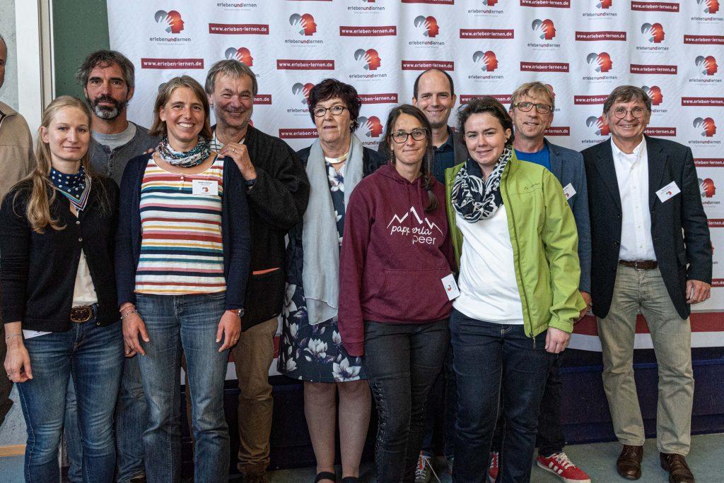 Preisverleihung erleben und lernen 2018: Gruppenbild der Preisträger